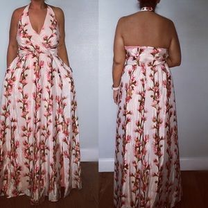 Jessica Simpson Cherry Blossom Maxi Dress size XL